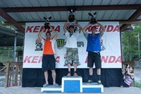 TKO 2011, Podium, 1st - Mike Brown, 2nd Cody Webb, 3rd - Bobby Prochnau, photo by Drew Ruiz