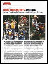 TKO feature in Dirt Rider magazine Jan. 2012