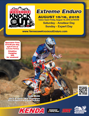 Tennessee Knockout Enduro flyer - 2015 (TKO)