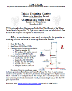 Chattanooga Trials Club -Toy Trial Flyer 2015