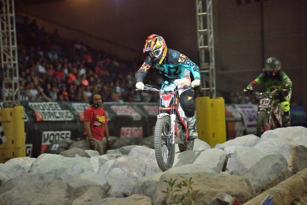 Trials rider at EnduroCross; Photo by Dirt Bike Magazine