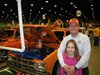 Robert Thompson with daughter and Auburn truck
