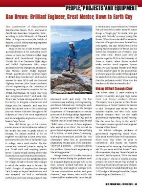 Dan Brown in Winter 2011 issue of DFI, p. 35-36