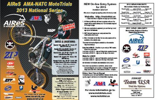 AMA NATC 2013 Mototrials series