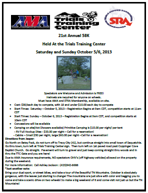21st Annual 58 K Fall Trial