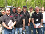 "RITC Tech inspection team, TTC 2008, L to R: Dave Aldo, Jim Grabbert, Carl ""Coach"" Swanson, Jeff Salois, Bill Bonneau, Hub Brennan, Bill Mathewson, Jim Watson"