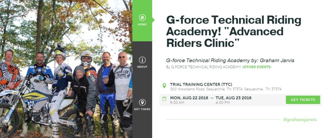 Graham Jarvis - G-force Technical Riding Academy