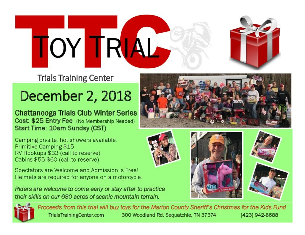 2018 Toy Trial Flyer at TTC